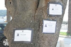 Bilder fra Makarska 008e Slik annonserte de at noen var død