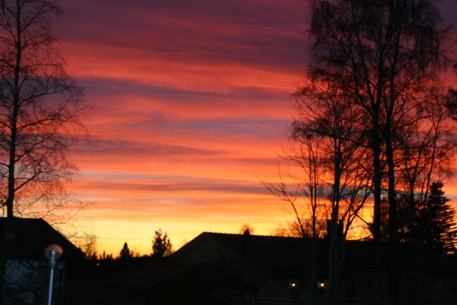 Solnedgang over Dagboveien des. 2006