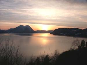 Solnedgang i Stordal