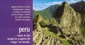 En reise i Peru, Amazonas og Inca-riket Klikk på de forskjellige albumene fra hver dag så kommer bildene opp ! Hvert bilde forstørres ved å klikke på det ! God tur.