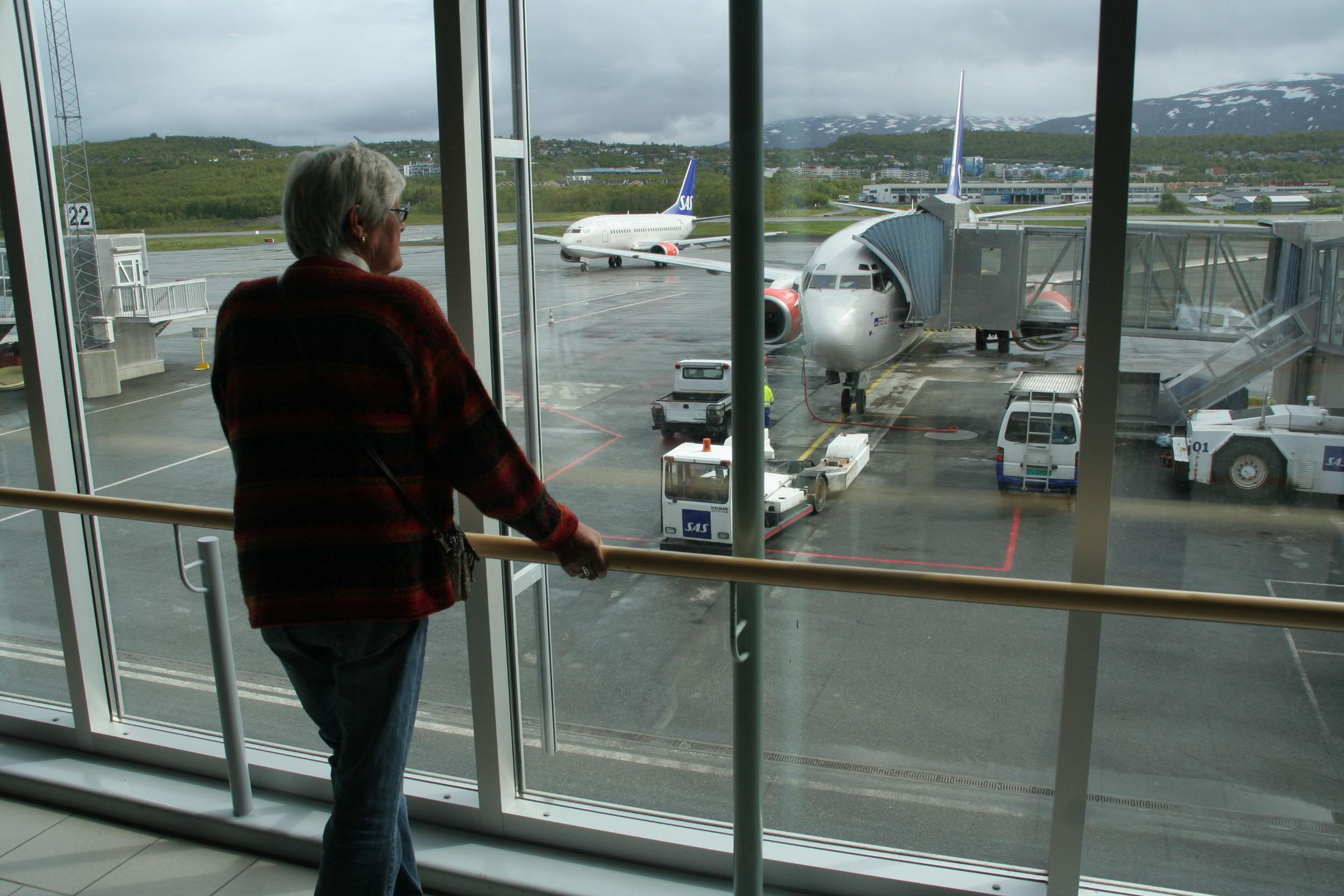 IMG 2243 Vi forlater Trmsø lufthavn med destinasjon Longyearbyen på Svalbard