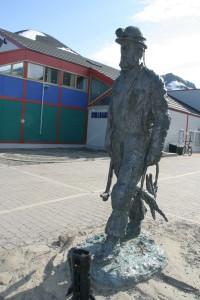 IMG 2272 Monument over den gamle gruvemannen.
