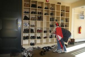 IMG 2307 På Svalbard tar alle av seg skoene når en går inn i et hus