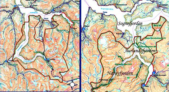 kart nærøyfjorden Nærøyfjorden   norges nasjonalfj kart nærøyfjorden